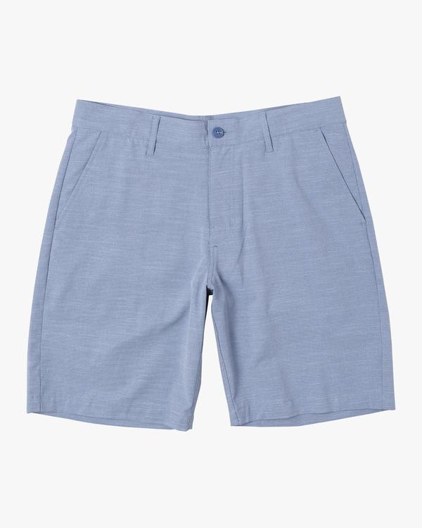 "0 Boy's Balance Hybrid Shorts 17"" Blue B2031RBH RVCA"