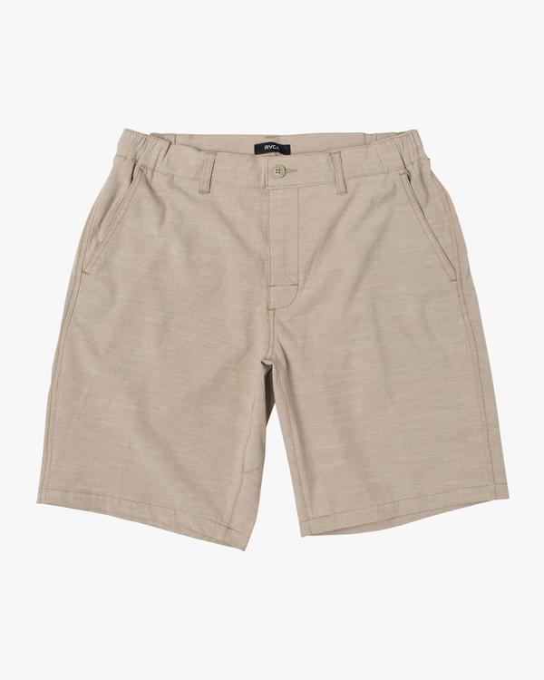 """0 Boy's All Time Coastal Solid Hybrid Shorts 17"""" Beige B206QRCO RVCA"""