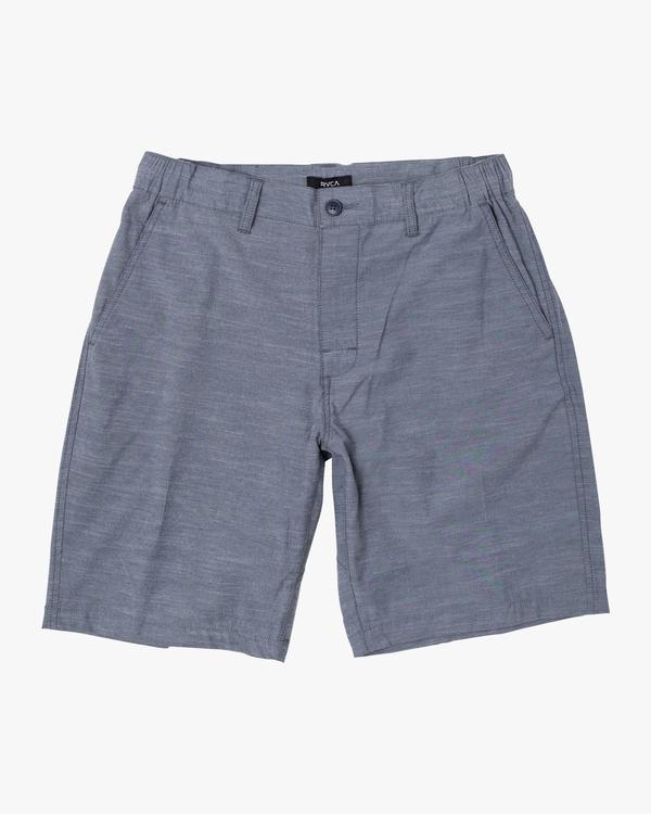 """0 Boy's All Time Coastal Solid Hybrid Shorts 17"""" Blue B206QRCO RVCA"""