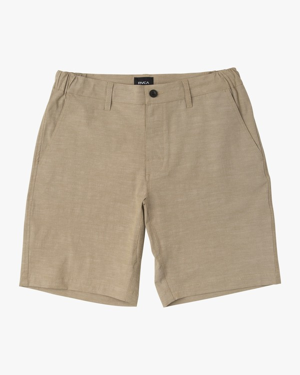 "0 BOYS ALL TIME COASTAL SOLID HYBRID 17"" SHORT Beige B206QRCO RVCA"