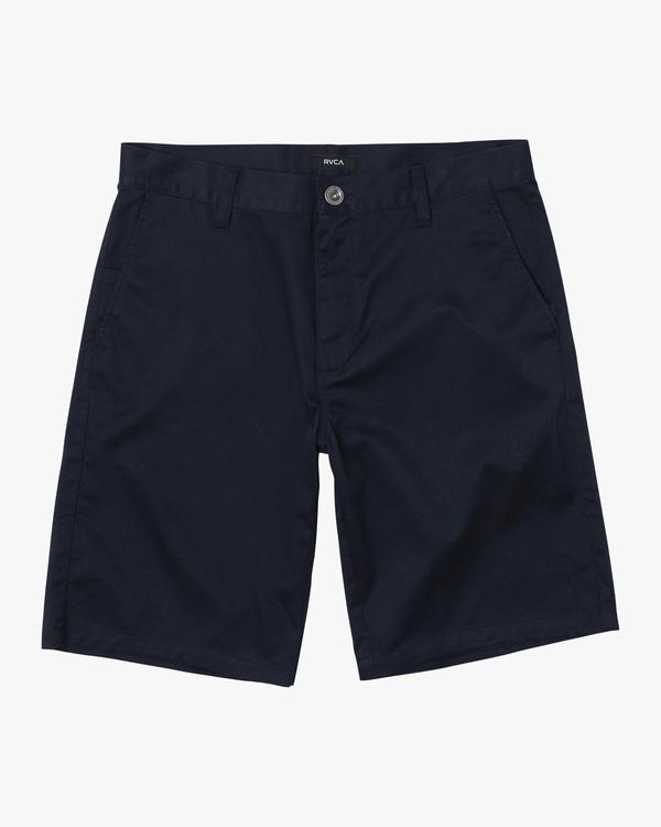 """0 Boy's Weekday Stretch Walkshorts 18"""" Blue B240TRWD RVCA"""