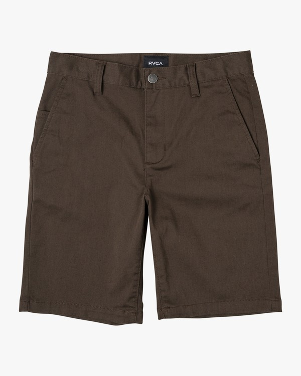 0 Boys Weekday Stretch Short Brown B240TRWD RVCA
