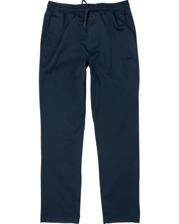 0 Boy's Weekend Elastic Straight Fit Pants Blue B3473RWE RVCA