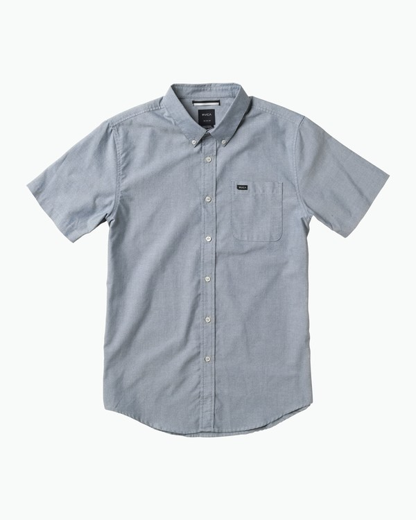 0 Boys That'll Do Oxford Shirt Blue B3504TDS RVCA