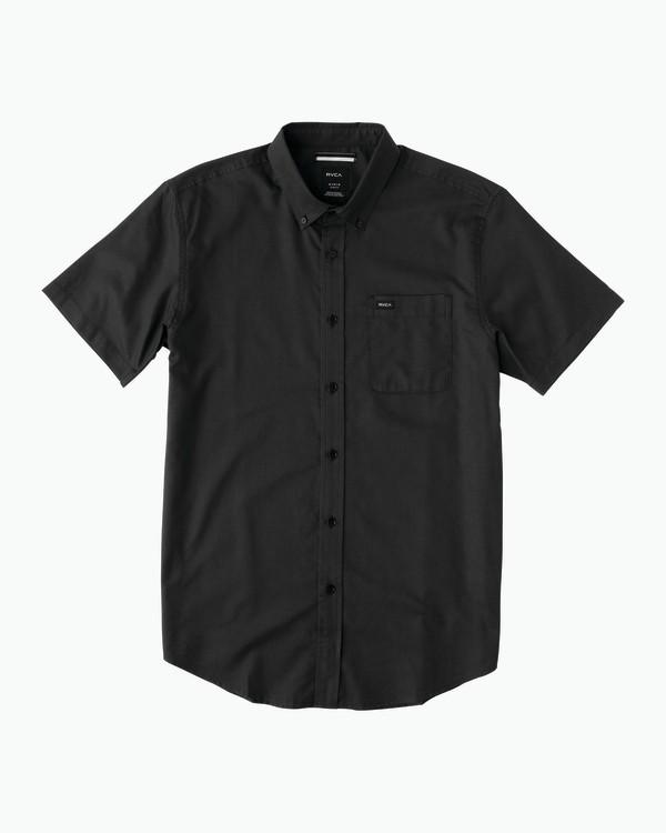 0 Boy's That'll Do Oxford Shirt Black B3504TDS RVCA