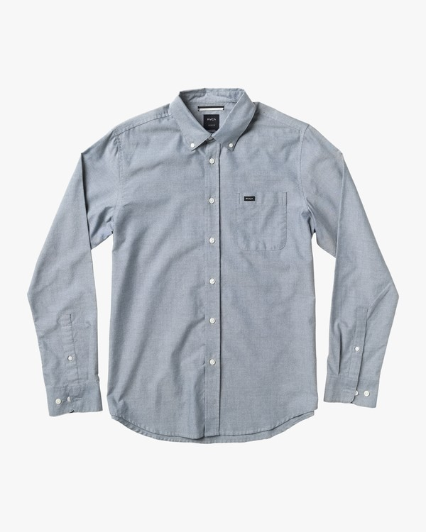 0 Boy's That'll Do Oxford Long Sleeve Shirt Blue B3506TDL RVCA