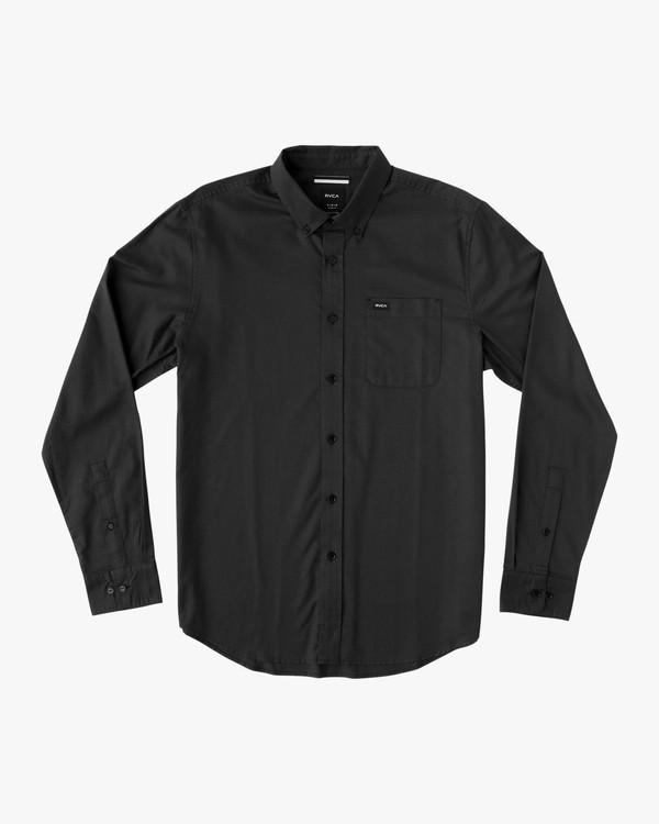 0 Boy's That'll Do Oxford Long Sleeve Shirt Black B3506TDL RVCA