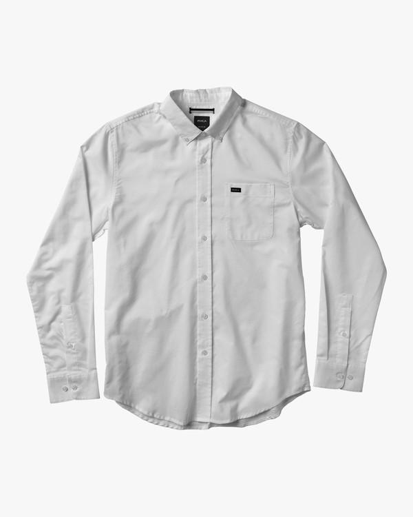 0 Boy's That'll Do Oxford Long Sleeve Shirt White B3506TDL RVCA
