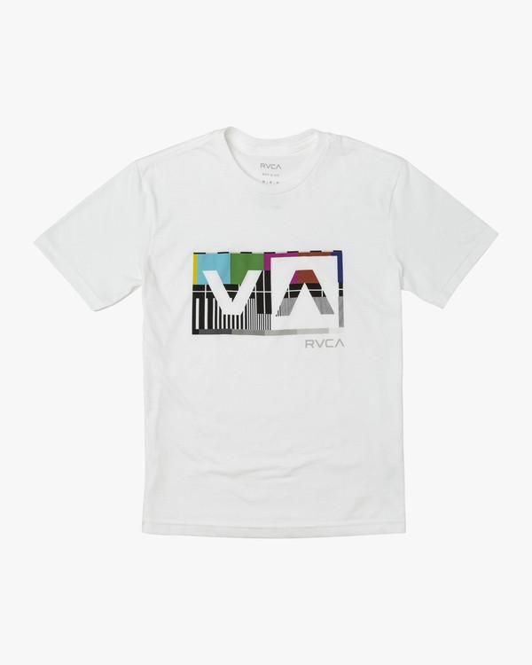 0 BOY'S BALANCE BOX T-SHIRT White B4011RBA RVCA