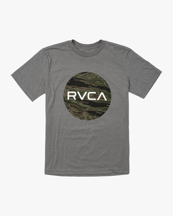 0 BOY'S MOTORS FILL T-SHIRT Green B4011RMO RVCA