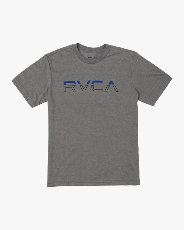 0 BOY'S SPLIT PIN T-SHIRT Green B4011RSP RVCA