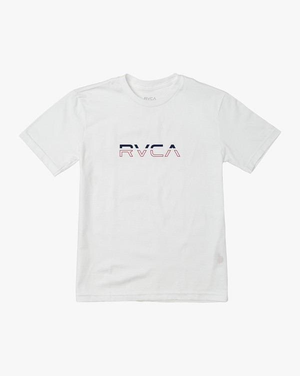 0 BOY'S SPLIT PIN T-SHIRT White B4011RSP RVCA