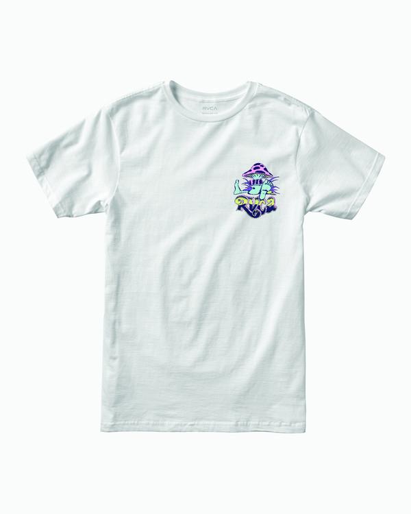 0 BOY'S TIKI CREST T-SHIRT White B4011RTI RVCA