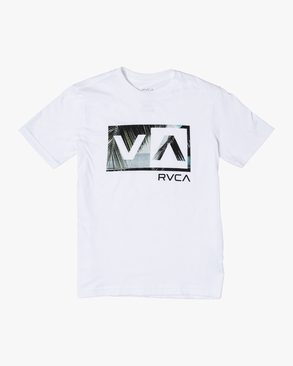 0 Boys BALANCE BOX SHORT SLEEVE T-SHIRT White B4012RBA RVCA