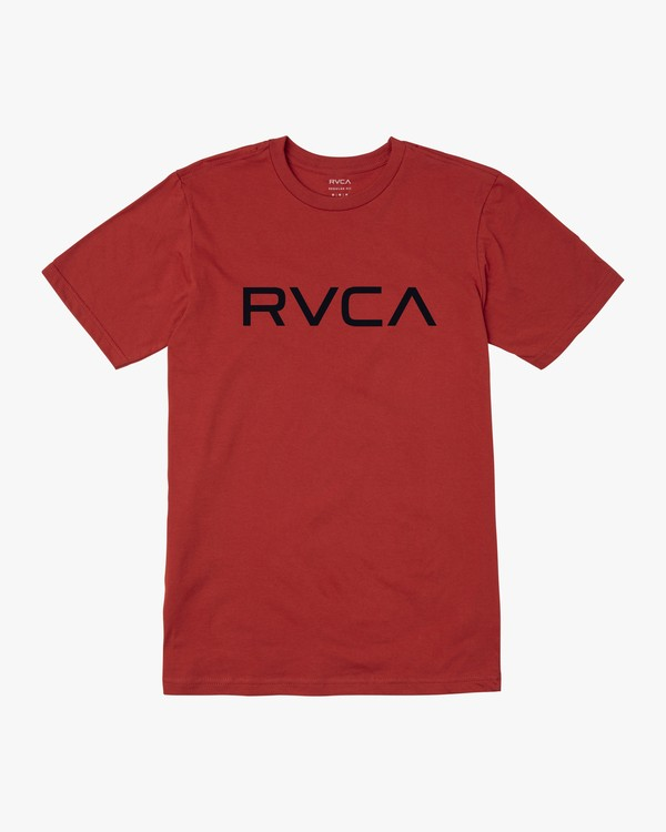 0 BOYS BIG RVCA SHORT SLEEVE TEE Red B4013RBI RVCA