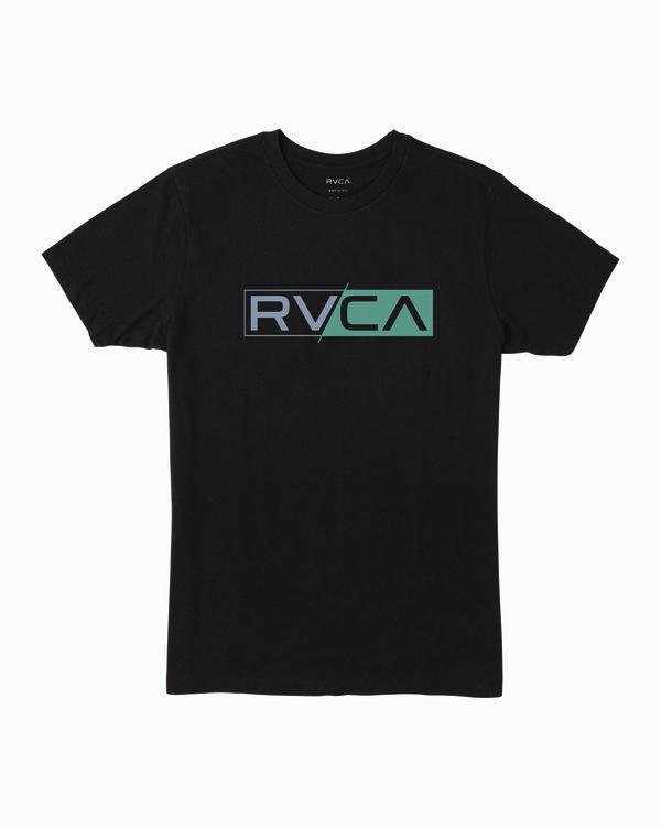 0 Boy's Lateral RVCA T-Shirt Black B401WRLR RVCA
