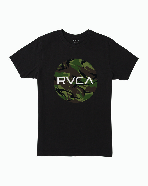 0 Boy's Motor Fill T-Shirt Black B401WRMO RVCA