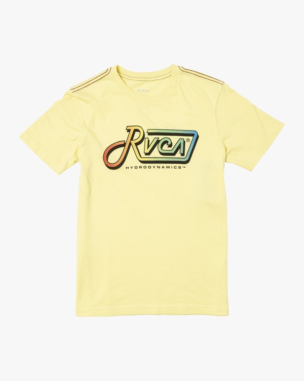 0 BOYS DE-LAM SHORT SLEEVE T-SHIRT Yellow B4062RDL RVCA