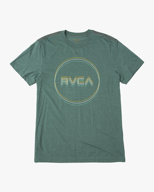 0 Boy's Tri-Motors T-Shirt Green B409QRTR RVCA