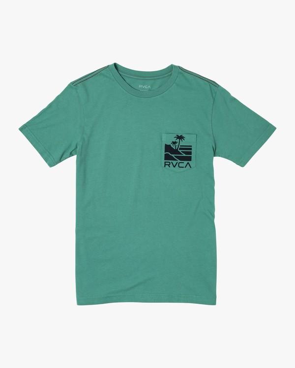 0 BOYS VISTA SHORT SLEEVE T-SHIRT Green B4122RVI RVCA