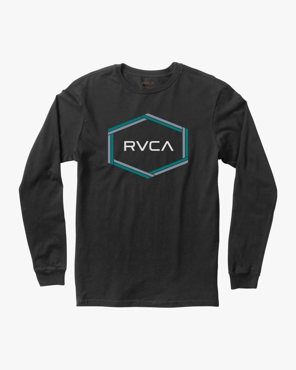 0 Boy's Hexest Long Sleeve T-Shirt  B453QRHE RVCA