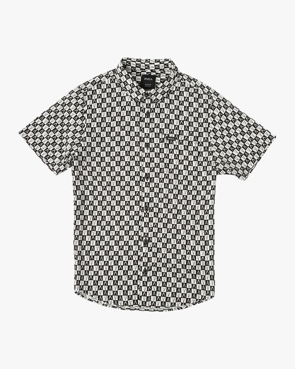 0 Boy's Greyscale Shirt Black B505VRGS RVCA