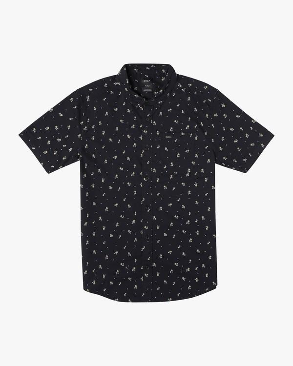 0 Boy's That'll Do Printed Short Sleeve Shirt Black B508TRTP RVCA