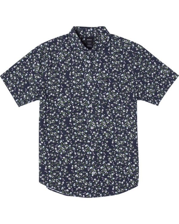 0 Boy's That'll Do Printed Short Sleeve Shirt Blue B508TRTP RVCA
