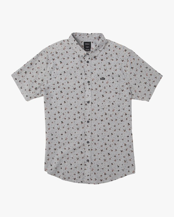0 BOY'S THATLL DO PRINT SHORT SLEEVE SHIRT White B508TRTP RVCA