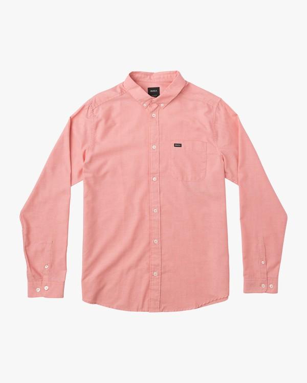 0 Boy's That'll Do Stretch Long Sleeve Shirt Red B511QRTL RVCA