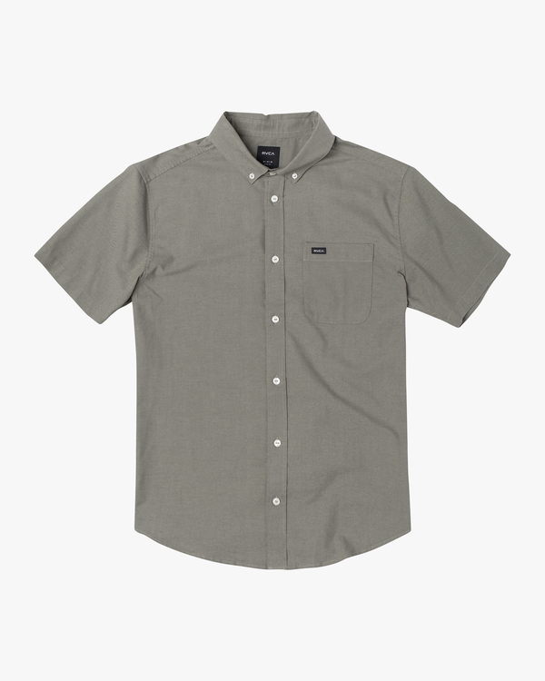 0 Boy's That'll Do Stretch Short Sleeve Shirt Green B525TRTS RVCA
