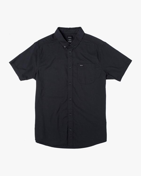 0 Boys That'll Do Stretch Short Sleeve Shirt Black B525TRTS RVCA