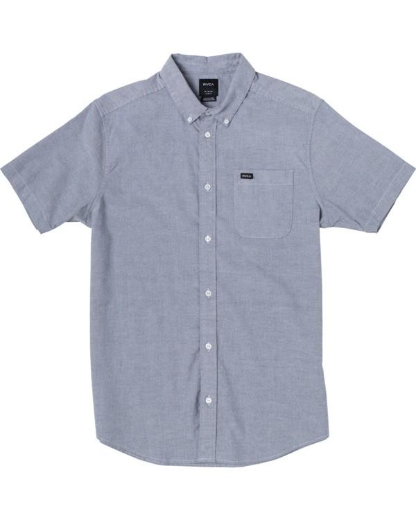 0 Boys That'll Do Stretch Short Sleeve Shirt Blue B525TRTS RVCA