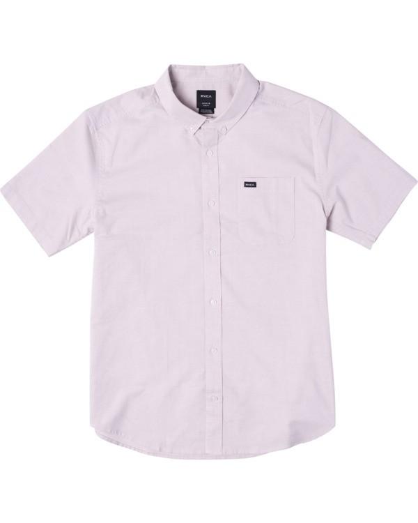 0 Boy's That'll Do Stretch Short Sleeve Shirt Grey B525TRTS RVCA