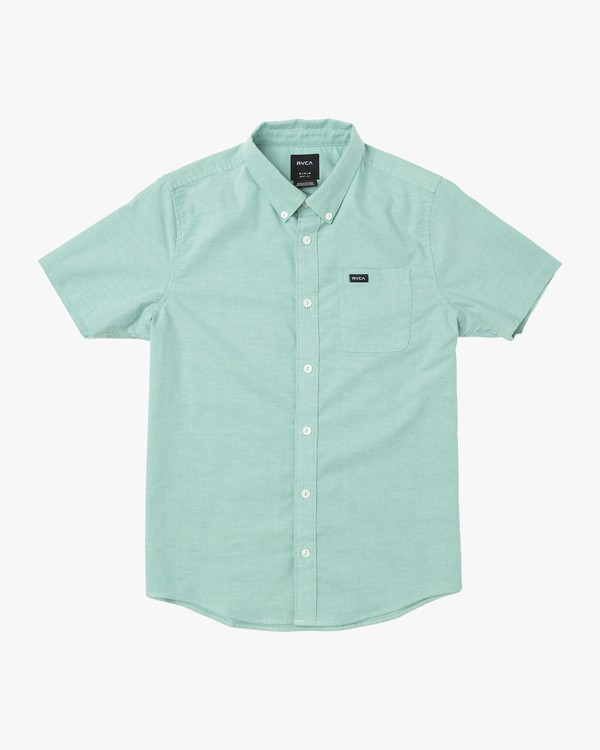 0 BOYS THATLL DO STRETCH SHORT SLEEVE SHIRT Green B525TRTS RVCA