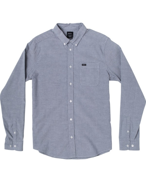 0 Boys That'll Do Stretch Long Sleeve Shirt Blue B526VRTL RVCA