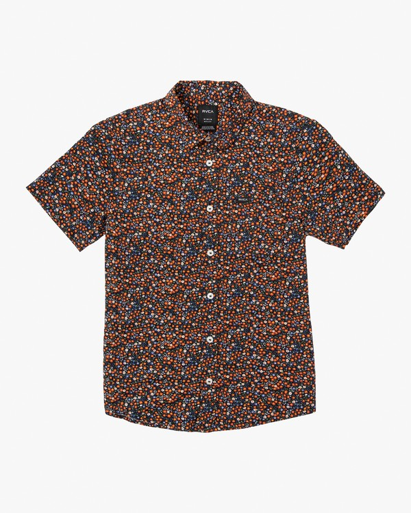 0 Boy's Costello Floral Button-Up Shirt Orange B550WRCO RVCA