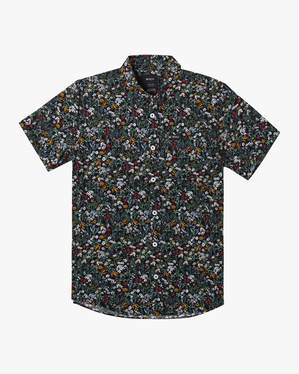 0 Boys Costello Floral Button-Up Shirt Grey B550WRCO RVCA