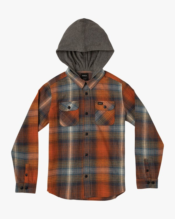 0 Boy's Muir Flannel Orange B552VRMF RVCA