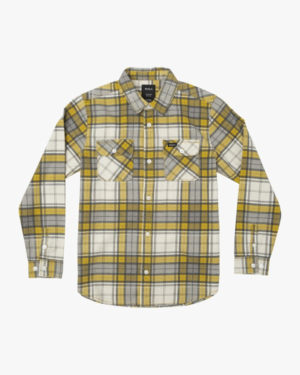0 BOY'S PANHANDLE LS FLANNEL SHIRT Yellow B5531RPH RVCA
