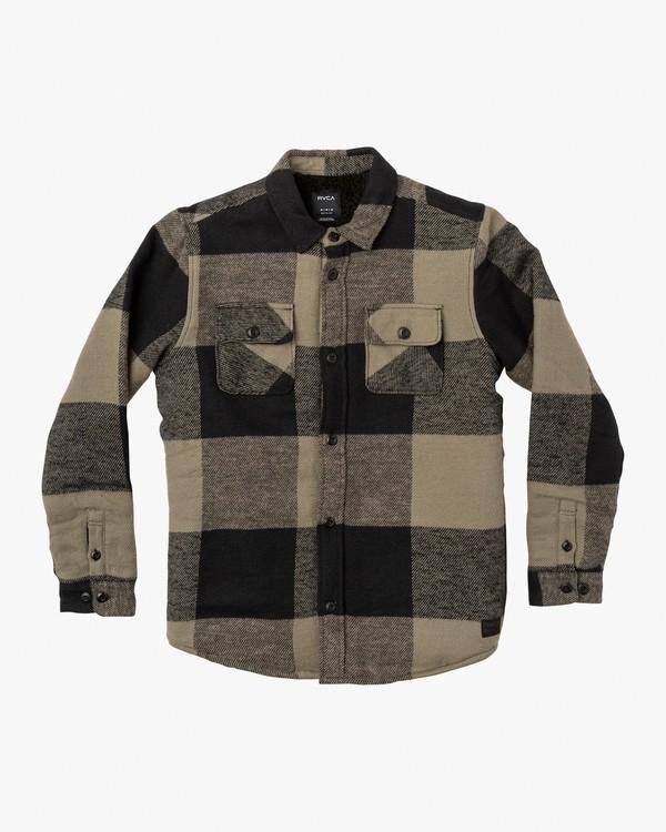 0 Boy's Haywire Flannel Shirt Jacket Green B555WRHA RVCA