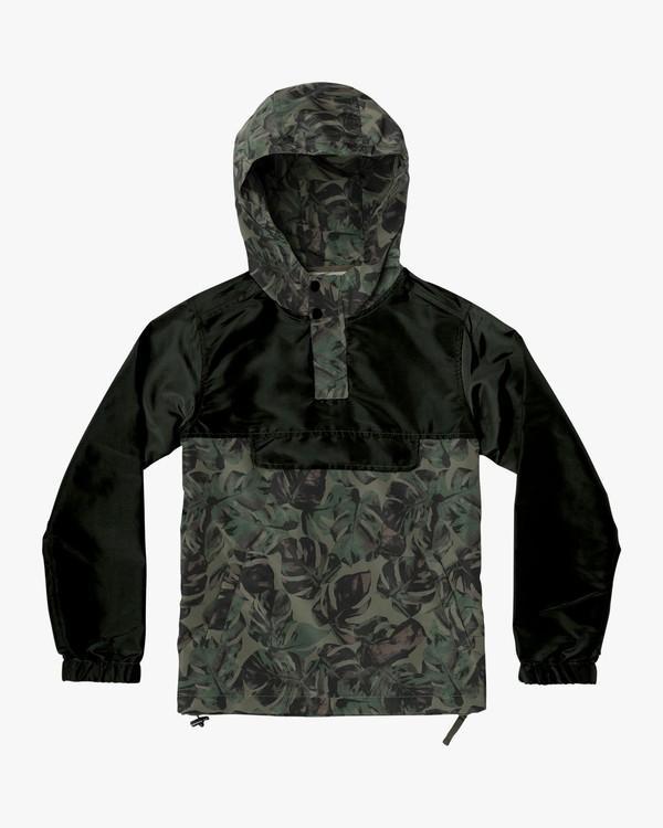 0 Boy's Killer Anorak Jacket Green B722VRKI RVCA