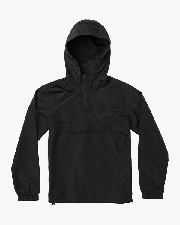 0 Boy's Killer Anorak Jacket Black B722VRKI RVCA