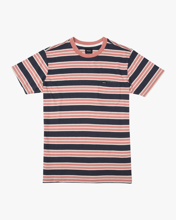 0 Boy's Lucas Stripe Knit T-Shirt Blue B901TRLS RVCA