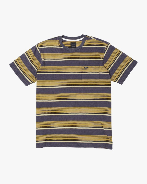 0 Boys VENTURA STRIPE SHORT SLEEVE T-SHIRT Blue B9023RVS RVCA