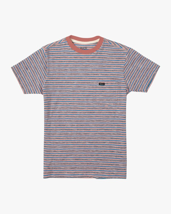 0 Boy's Foz Stripe T-Shirt Grey B902VRSS RVCA