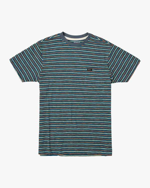 0 Boy's Foz Stripe T-Shirt Blue B902VRSS RVCA