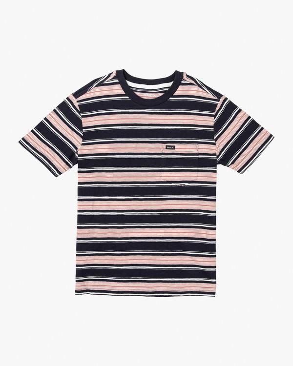 0 Boy's Hank Striped Knit T-Shirt  B902WRHS RVCA