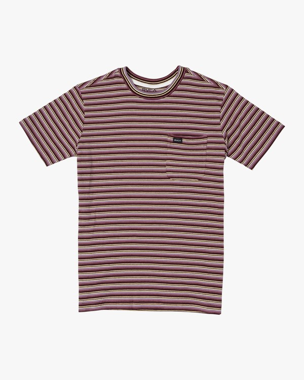 0 Boys DOWNLINE STRIPE SHORT SLEEVE T-SHIRT Red B9042RDL RVCA