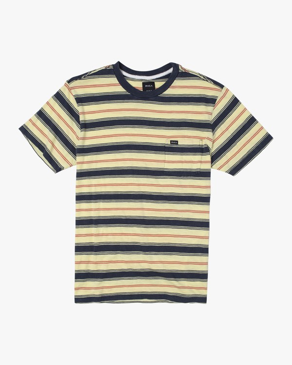 0 Boys DAVIS STRIPE SHORT SLEEVE T-SHIRT Yellow B9052RDS RVCA